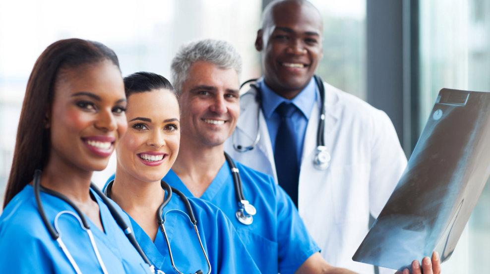 doctors smiling