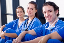 group of medical assistants